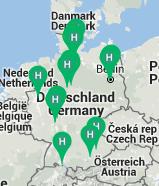 Übersichtskarte der Freiwilligen Initiativen